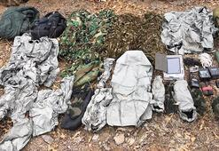 PKKlıların termal kamerada görünmemek için giydiği kıyafetler ele geçirildi