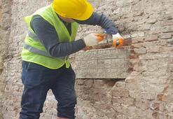 İş yeri inşaatının duvarından kitabe çıktı