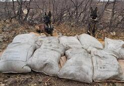 Bingölde PKKya ait 450 kilo amonyum nitrat ele geçirildi