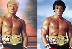 Trump Rocky Balboa oldu Twitterdan paylaştı...