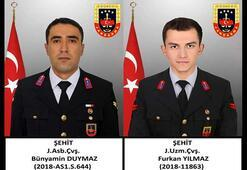Yıldırım düşmesi sonucu şehit olan 2 asker memleketlerine uğurlandı
