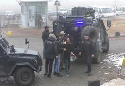 Kars'ta PKK/KCK'dan gözaltına alınan 9 kişi adliyeye getirildi