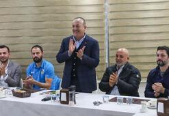 Dışişleri Bakanı Çavuşoğlu, Alanyasporu ziyaret etti