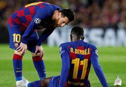 Barcelonada şok Dembele 2.5 ay yok...