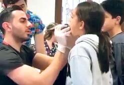 100 çocuğa göz ve diş taraması yapıldı