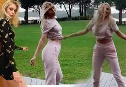 Aleyna Tilkinin kalça dansı sosyal medyayı salladı