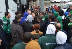 Kaza geçiren taraftarları Başkan Mestan karşıladı