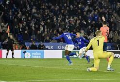 Çağlarlı Leicester, Cenkli Everton'ı mağlup etti