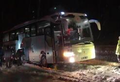 Kara saplanan ampute futbol takımı otobüsünü AFAD kurtardı