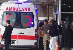 Çobanbeyde zırhlı araç devrildi, 3 asker yaralandı