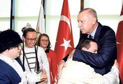 Erdoğan engellilerle bir araya geldi