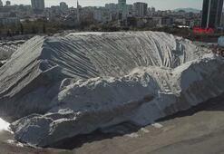 İstanbulun tuz tepesi havadan görüntülendi
