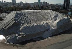 İstanbulun tuz tepesi havadan fotoğraflandı