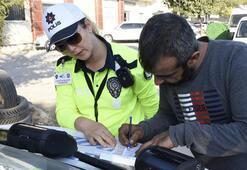 Kadın polisten Trafikte drone uygulaması