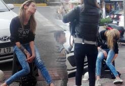 Hollandalı Mariana, ayakta duramayınca hastaneye kaldırıldı