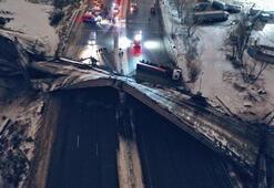 Rusyada köprünün çökme anı kamerada