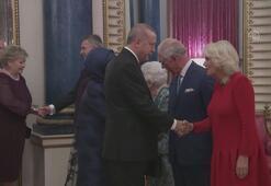 Erdoğan, Buckingham Sarayı'nda verilen resepsiyona katıldı
