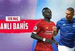 Lider Liverpoolun Everton maçı canlı bahisle Misli.comda