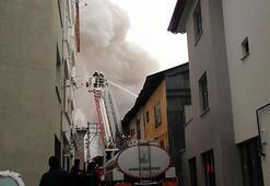 Geredede 2 katlı ev yandı
