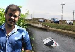 Genç avukatın otomobili sulama kanalında bulundu