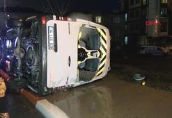 Öğrenci servisiyle otomobil çarpıştı: Yaralılar var
