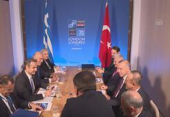 Erdoğan, Yunanistan Başbakanı Miçotakis ile bir araya geldi