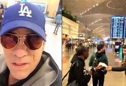 ABDli oyuncu Daviden İstanbul Havalimanına övgü