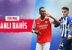 Arsenal-Brighton maçı canlı bahisle Misli.comda