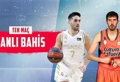 Real Madrid-Valencia Basket maçı canlı bahisle Misli.comda