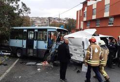 Son dakika Minibüsle ekmek taşıyan kamyonet çarpıştı Yaralılar var...