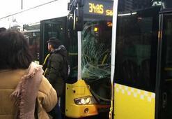 Son dakika... Fikirtepede iki metrobüs birbirine girdi