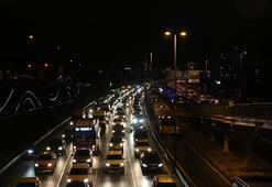 İstanbulda trafik yoğunluğu yüzde 74e ulaştı