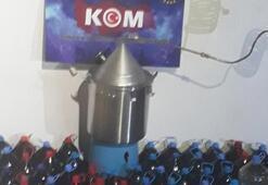 Çanakkalede yüzlerce litre sahte içki ele geçirildi