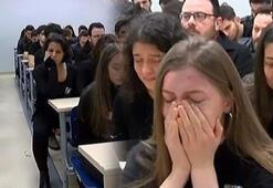 Sınıfta gözyaşları sel oldu Üniversite'den Ceren kararı