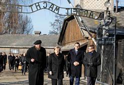 Merkelden ölüm kampına ilk ziyaret