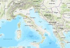Son dakika... İtalyada deprem fırtınası Gece yarısı sokağa döküldüler