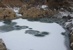 Doğuda göletler buz tuttu