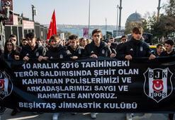 Beşiktaştaki terör saldırısında şehit düşenler anıldı