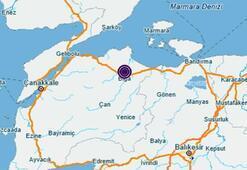 Çanakkalede deprem mi oldu Son dakika Çanakkale deprem haberi - 11 Aralık Kandilli Rasathanesi