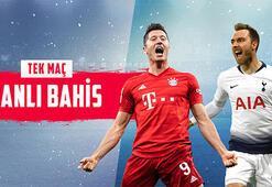 Bayern Münih-Tottenham maçı canlı bahisle Misli.comda