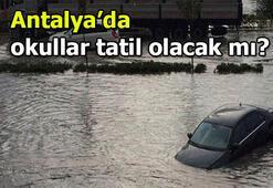 Antalyada okullar tatil mi Vali açıkladı 11-12 Aralık Antalyada okullar tatil olacak mı