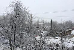 Antalyanın yüksek kesimlerine kar yağdı