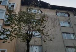 Son dakika Şişlide bir binanın çatı katında çökme
