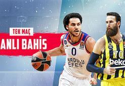 Anadolu Efes- Fenerbahçe Beko maçının canlı bahis heyecanı Misli.comda