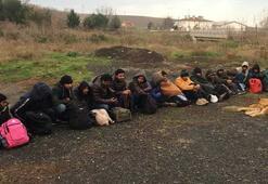 Tekirdağda 26 kaçak göçmen yakalandı