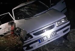 Adıyamanda iki otomobil çarpıştı: 4 yaralı