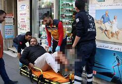 Şişlide market çalışanı parasını vermeden meyve yiyen turisti bıçakladı