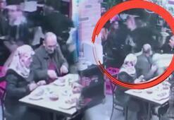 Garsona saldırdılar Akılalmaz olayda görüntüler ortaya çıktı