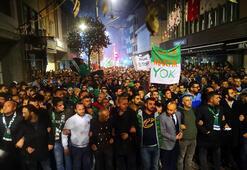 Bursaspor taraftarından takıma destek yürüyüşü