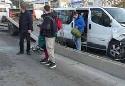 Engelli çocukları taşıyan minibüs kaza yaptı Yaralılar var